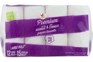 Ahold Premium Full Size Paper Towels - 12 CT