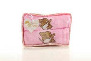 Полотенце Розовый Elephant 40*60 50*100 2шт Arya