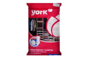 Чохол для зберігання одягу з вішалкою вакуумний York 70*145см 9304