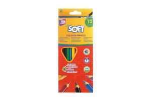 Олівці кольорові Cool4School Extra Soft 12 кольорів трикутні