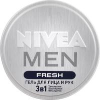 Гель для обличчя та рук Fresh 3в1 Men Nivea 75мл