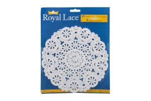Royal Lace 8in Medallion Lace Doilies - 20 CT
