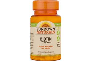 Sundown Naturals Biotin 7500MCG - 75 CT