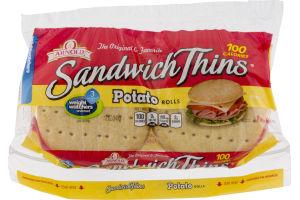 Arnold Sandwich Thins Potato Rolls - 8 CT