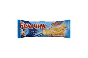 Трубочки кукурудзяні з начинкою зі смаком згущеного молока Бумчик Бумкорн м/у 20г