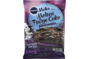 Pillsbury Melts Molten Fudge Cake Filled Cookies - 9 CT