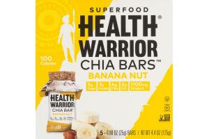 Health Warrior Superfood Chia Bars Banana Nut - 5 CT