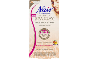 Nair Brazilian Spa Clay Face Wax Strips - 40 CT