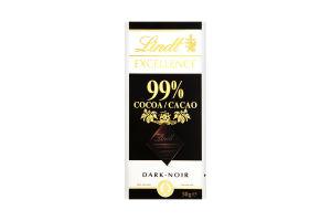 Шоколад Lindt Excellence черный какао 99% 50г