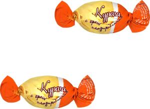 Цукерки Курага з волоським горіхом глазурована Pioni кг