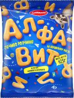 Печиво розчинне Алфавіт Слодич м/у 125г