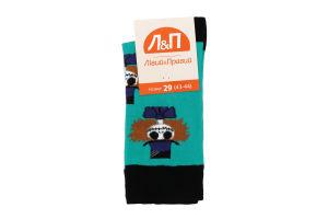 Шкарпетки чоловічі Лівий&Правий №797409 29 (43-44) бірюза
