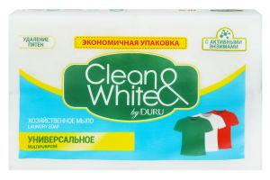 Мыло хозяйственное универсальное Clean&White Duru 4х125г
