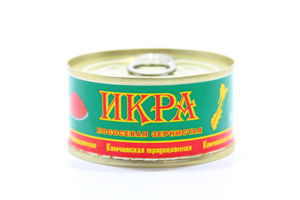 Ікра лососева Камчатська з заморож.сировини 2 гат.120г х27//