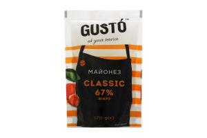 Майонез 67% Classic Gusto д/п 170г