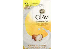 Olay Moisture Outlast Soap Ultra Moisture With Shea Butter - 6 CT