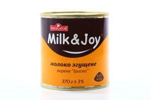 Молоко Milk i Joy згущене Іриска варене 370г