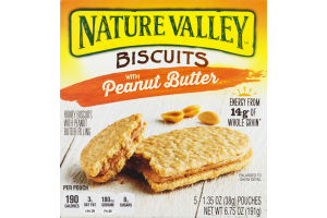 Nature Valley Biscuits Honey Biscuits With Peanut Butter - 5 CT