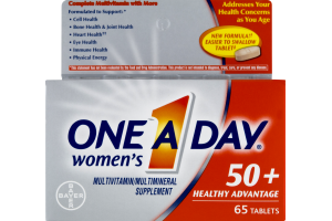 One A Day Women's Multivitamin 50+ Healthy Advantage Tablets - 65 CT