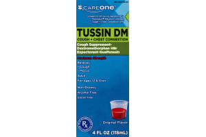 CareOne Tussin DM Cough + Chest Congestion Original