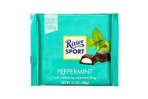 Шоколад чорний Peppermint Ritter Sport 100г