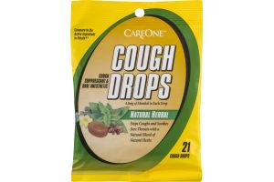 CareOne Cough Drops Natural Herbal - 21 CT