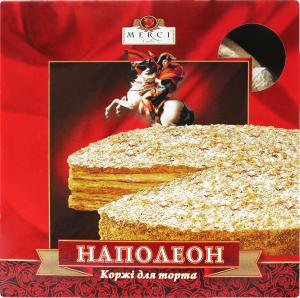 Коржи д/торта Мерси Наполеон к/у 400г