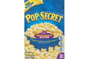 Pop-Secret Premium Popcorn Movie Theater Butter - 3 CT