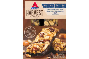 Atkins Harvest Trail Dark Chocolate Sea Salt Caramel Bar - 5 CT