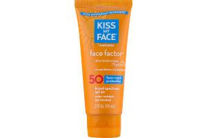 Kiss My Face Sunscreen Face Factor Face + Neck Protection SPF 50