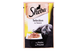 Корм для взрослых котов с курицей в соусе Sheba м/у 85г