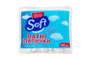 Ватные палочки косметические Soft Varto 100шт