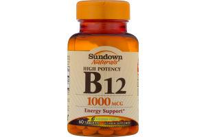 Sundown Naturals High Potency B12 1000 mcg - 60 CT