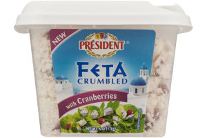 President Feta Crumbled with Cranberries