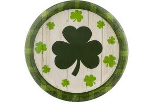 Smart Living Everyones Irish-Shamrock Plaid Plates - 8 CT