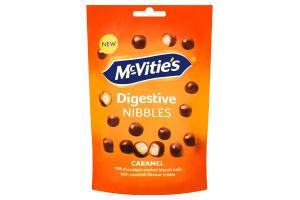 Печенье-драже с молочным шоколадом и карамелью Nibbles McVitie's м/у 120г