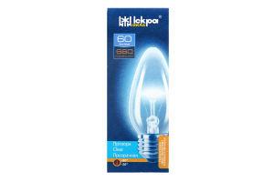 Лампа електрична прозора Іскра Свічка B36-230в 60вт Е27