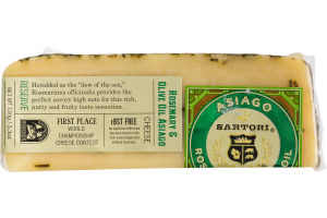 Sartori Reserve Asiago Rosemary And Olive Oil Cheese