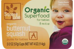 Square One Organic Superfood for Babies Organic Butternut Squash Puree - 2 PK