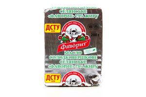 Масло 73% сладкосливочное Крестьяснское Фаворит м/у 200г