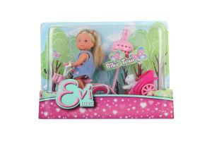 Кукла для детей от 3-х лет №0783 Bike Tour Evi love Simba 1шт
