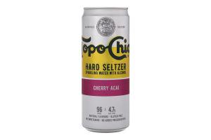Напиток слабоалкогольный 330мл 4.7% газированный Cherry Acai Hard Seltzer Topo Chico ж/б