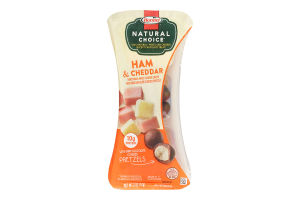Hormel Natural Choice Honey Ham, White Cheddar Cheese, Dark Chocolated Covered Pretzels, 2 Ounce