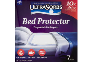 Medline UltraSorbs Bed Protector Disposable Underpads - 7 CT