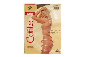 Колготы женские Conte Active 40den 2-S natural