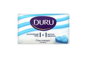 Крем-мило туалетне 1+1 Зволожуючий крем&Морські мінерали Duru 80г