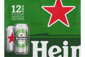Heineken Beer Cans - 12 CT