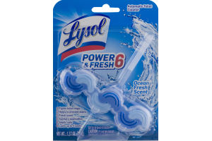 Lysol Power & Fresh 6 Automatic Toilet Cleaner Ocean Fresh Scent