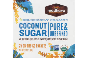 Madhava Coconut Sugar On-The-Go-Packets - 25 CT