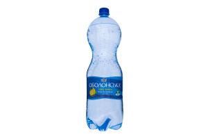 Вода минеральная столовая сильногазированная Плюс лимон Оболонська п/бут 2л